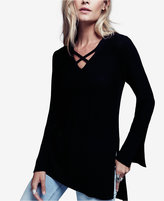 Free People Crisscross Tunic Sweater
