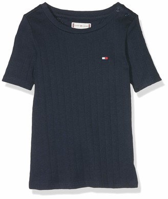 Tommy Hilfiger Baby Girls' Solid Wide Rib S/s Tee T-Shirt