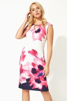 M&Co Roman Originals floral print fitted scuba dress
