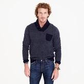 J.Crew Lambswool jacquard shawl-collar sweater