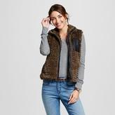 Women's Faux Fur Vest Green - Collection B