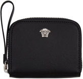 Versace Black Medusa Zip Wallet