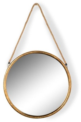 MOR Gifts and Interiors - Medium Antique Silver Glass Roped Mirror - glass | silver | medium - Silver/Silver