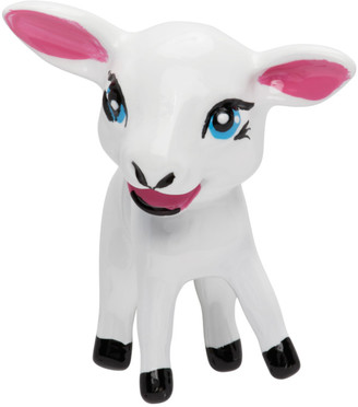Balenciaga White Happy Lamb Single Earring
