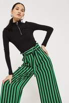 Topshop Stripe paperbag wide leg pants