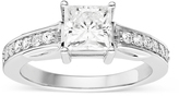 1 1/2 CT DEW Forever Classic Moissanite Sterling Silver Solitaire Engagement Ring