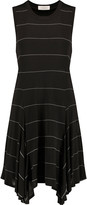 A.L.C. Stone asymmetric striped stretch-jersey dress