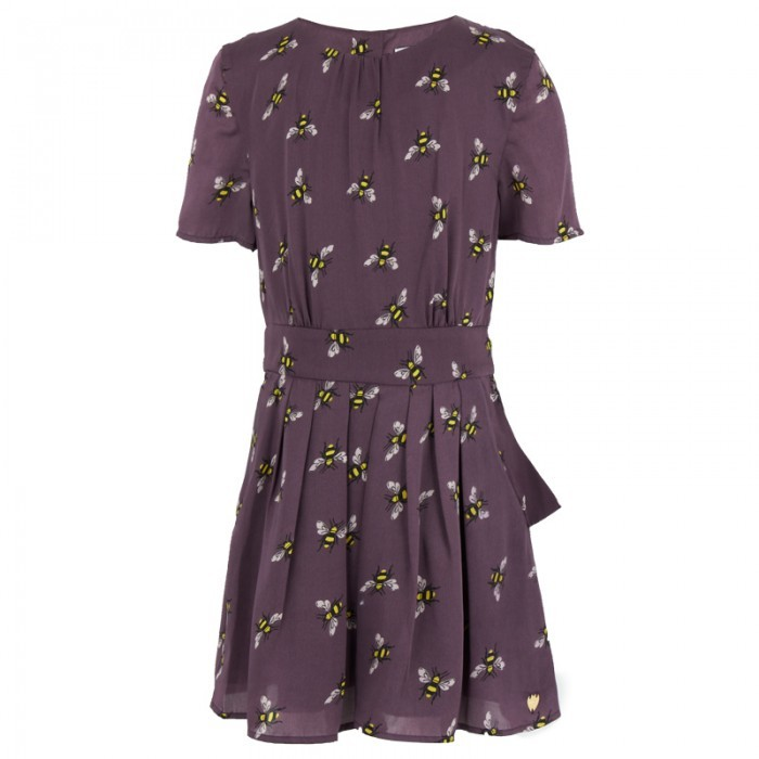 Juicy Couture Purple Bee Print Dress