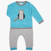 John Lewis Intarsia Owl Jumper & Legging Set, Teal