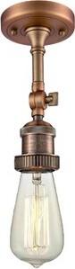 Mignone Williston Forge 1-Light Semi Flush Mount Williston Forge Finish: Antique Copper