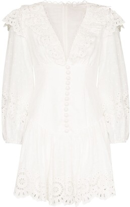 Zimmermann Bellitude scalloped lace mini dress