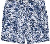 Onia Calder Blue Marble Print Swim Shorts