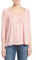 Velvet by Graham & Spencer Textured Peasant Top