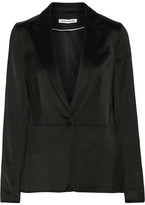 Elizabeth and James Lainey Satin Blazer - Black