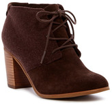 Toms Lunata Lace-Up Suede & Wool Bootie