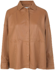 MUNTHE Camel Leather Short Jacket - 34 | camel - Camel