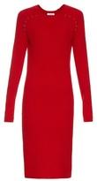 Thierry Mugler Long-sleeved ribbed-knit midi dress