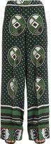 Stella Jean Printed Silk Crepe De Chine Pants