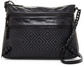 Elliott Lucca Mari 3-Zip Leather Crossbody