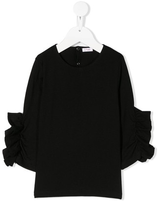 Il Gufo gathered sleeves T-shirt