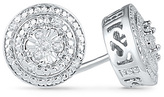 Zales Diamond Accent Double Frame Stud Earrings in 10K White Gold