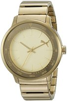 Puma Unisex PU103412002 Cruise Analog Display Quartz Gold Watch