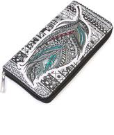 Riah Fashion Feather Print Wallet