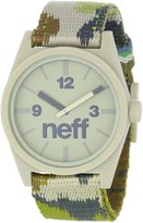Neff Men's NF0209-camo Custom Designed and Nylon Strap Camo Watch