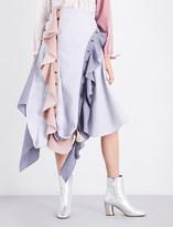 J.W.Anderson Frilled asymmetric cotton skirt