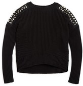 Design History Girls' Sequin Shoulder Sweater - Big Kid