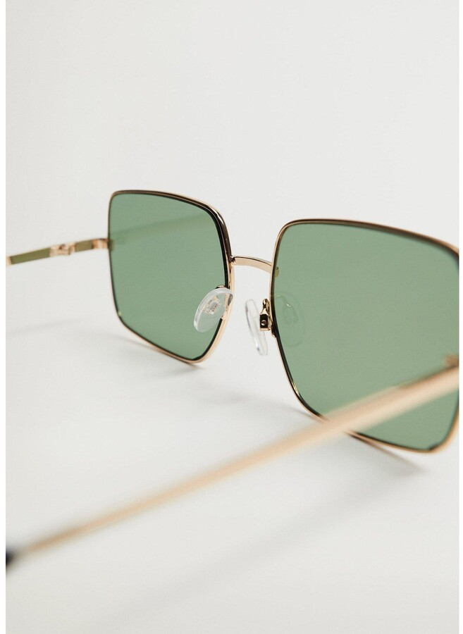 Thumbnail for your product : MANGO Square Design Sunglasses - Gold