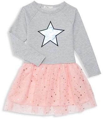 Pinc Premium Little Girl's Colorblock Cotton-Blend Dress