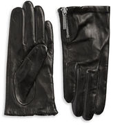 Michael Kors Zip Cuff Leather Gloves