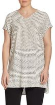 Eileen Fisher, Plus Size Painter Organic Linen Jersey Tunic