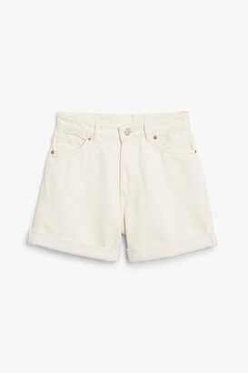 Monki High waist denim shorts