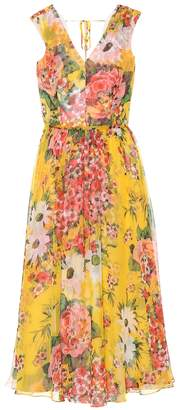 Carolina Herrera Floral silk midi dress