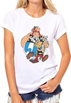 ANGRYDEER Asterix As Well As Obelix Logotype With The Dog Majestic Womens T-Shirt