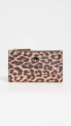 Kate Spade Metallic Leopard Slim Bifold Wallet