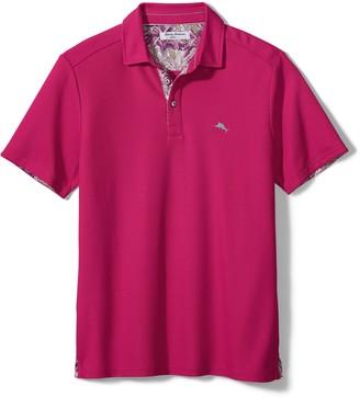 Tommy Bahama Five O' Clock Tropic Short Sleeve Pique Performance Polo Shirt