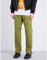 Moschino Military Regular-fit Cotton Trousers