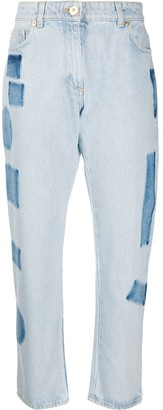 Versace High-Rise Cropped Straight-Fit Jeans