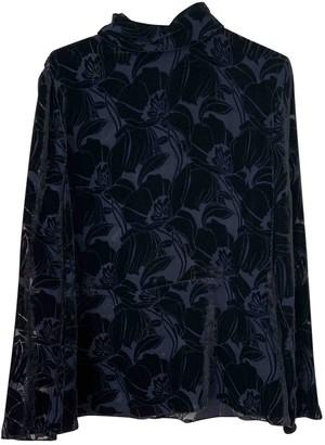Sonia Rykiel Navy Velvet Top for Women