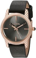 Diesel Women's 'Bitty' Quartz Stainless Steel and Leather Automatic Watch, Color:Black (Model: DZ5512)