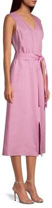 Lafayette 148 New York Lily Self-Tie Linen Dress