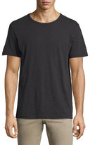 Vince Slub Short-Sleeve Crewneck T-Shirt, Black
