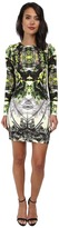 Nicole Miller Mercedes Coronado Neoprene Long Sleeve Dress