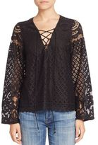 Tularosa Lace Up Lace Blouse