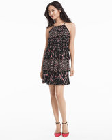 White House Black Market Sleeveless Mix Printed Floral Tiered Dress