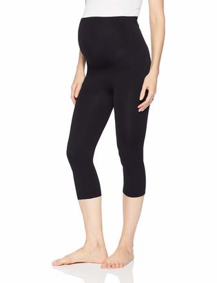 Annette Women's Soft and Seamless Full Coverage Pregnancy Capri Legging