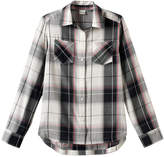 Mudd Girls 7-16 & Plus Size Curved Hem Plaid Button-Down Shirt